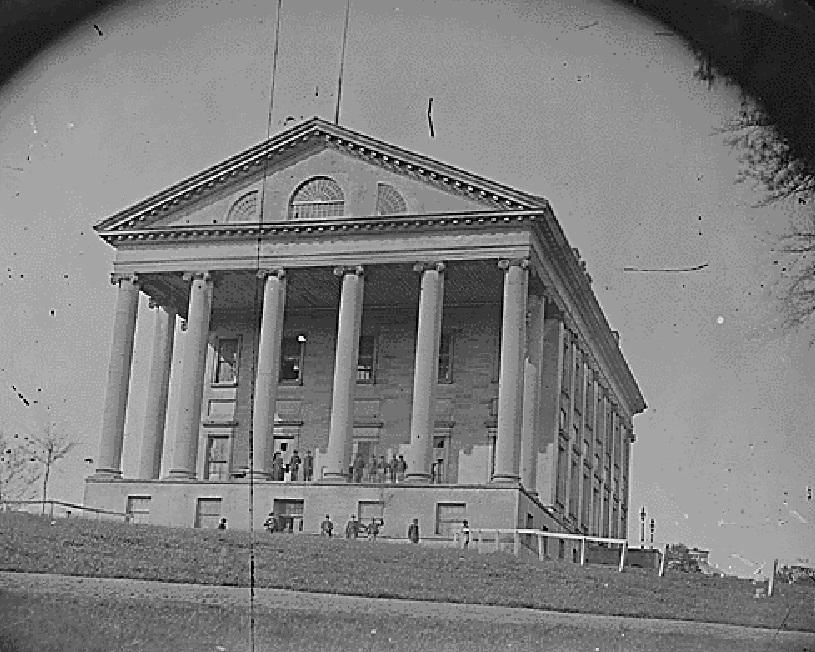 Virginia State Capitol circa 1865.