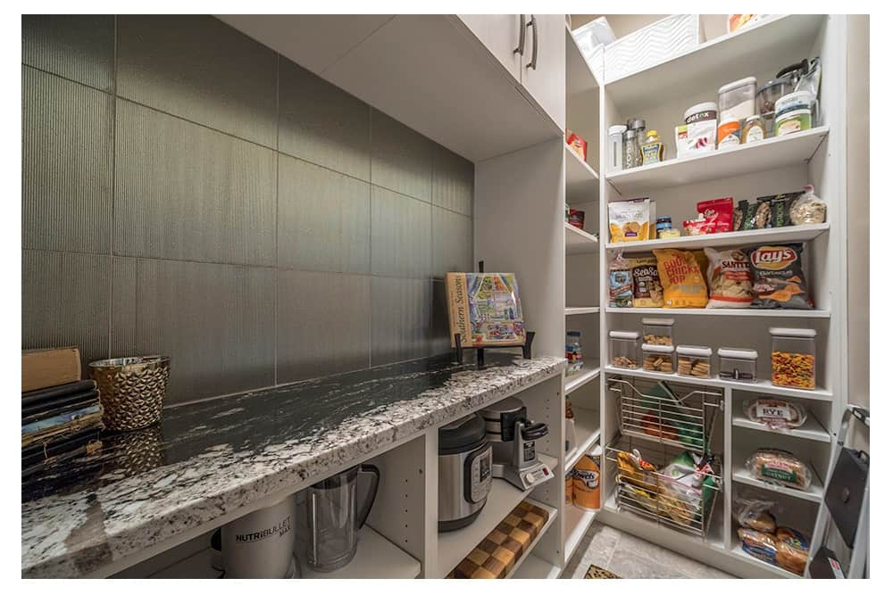 Walk-in closet with a combination of storage options