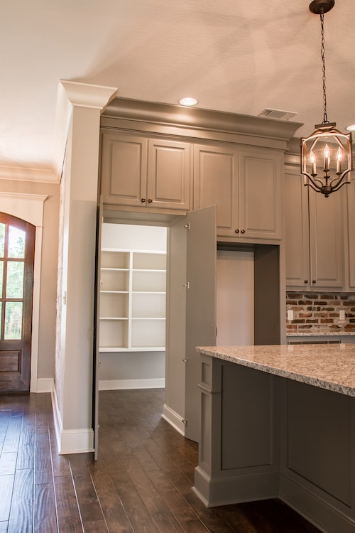 walk-in pantry in a four-bedroom, 2.5-bath European style-home plan #142-1160