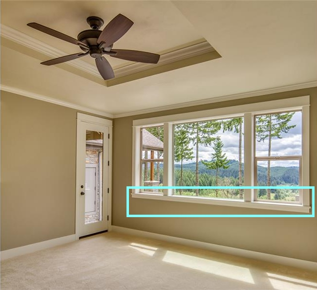 Example of window sill.