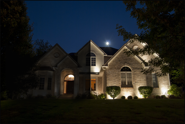 Your guide to smart outdoor lighting for your home landscape what a difference outdoor lighting can make in your homes appearance at night the photo above shows a house thats tastefully lit right side of image aloadofball Images