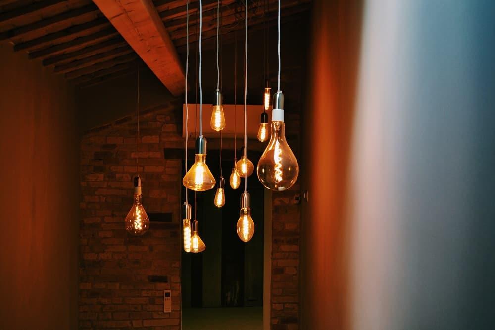 Sleek, modern bubble-like light fixtures