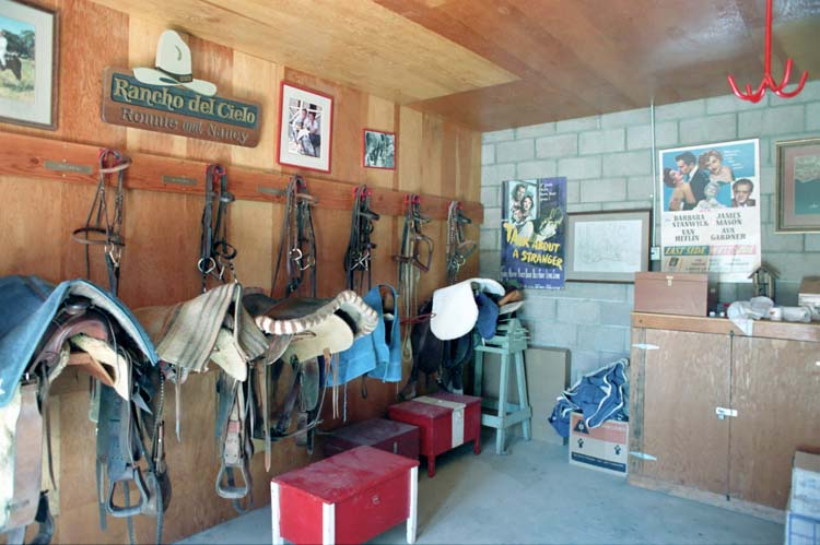 Tack room, companion to the barn the Reagans erected