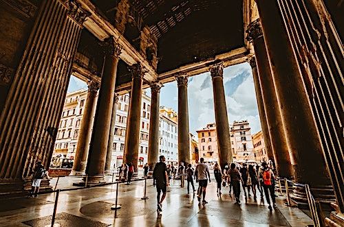 View inside Pantheon in Rome, Italy