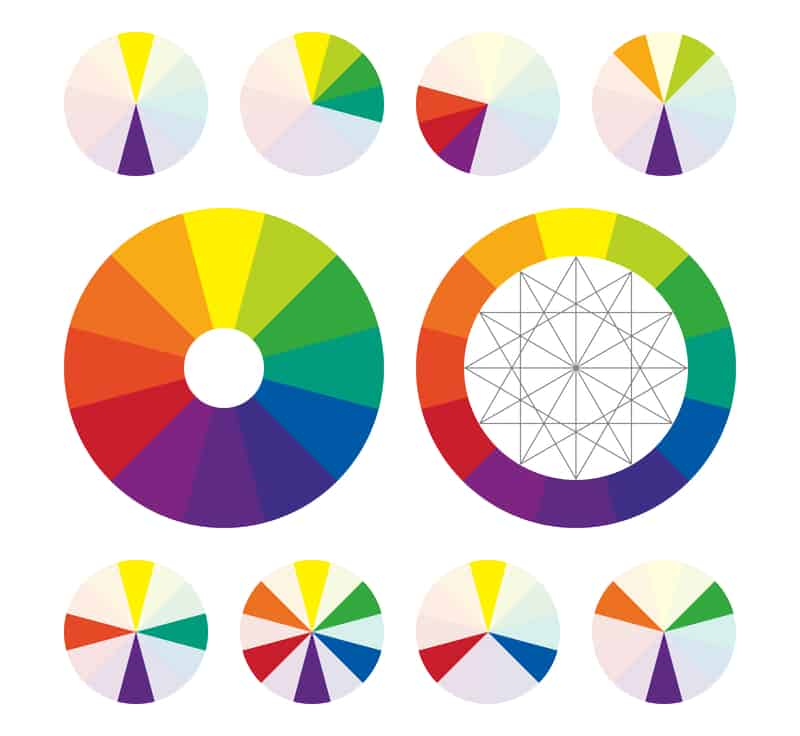 Image of the color wheel with complementary colors