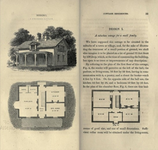 From A.J. Downing's book, Cottage Residences - published 1842