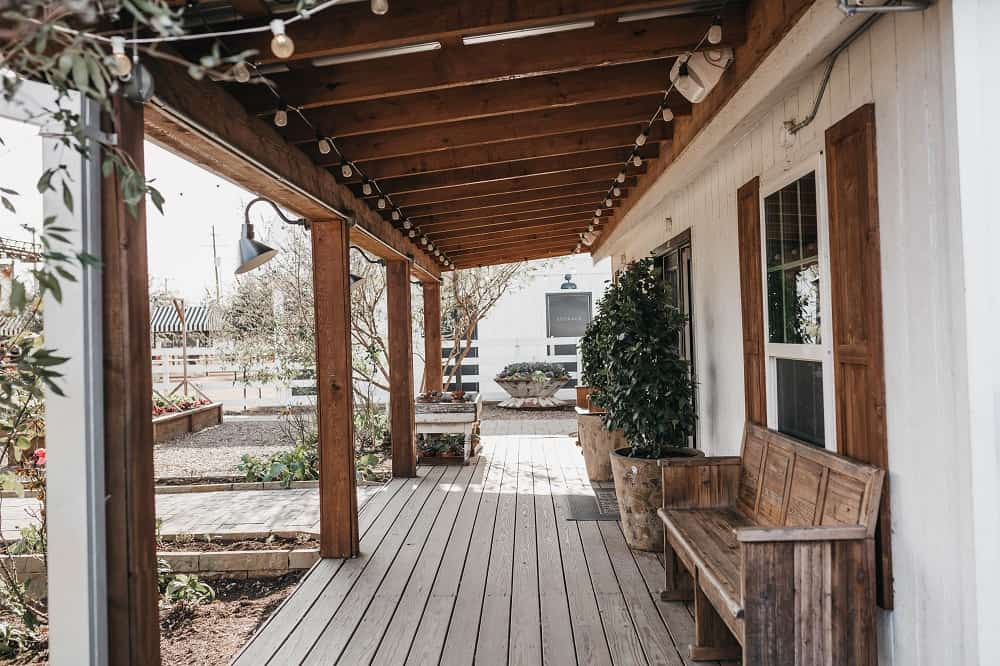 Rustic front porch with plenty of room