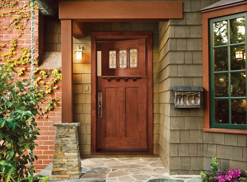 Jeld-Wen exterior door in Craftsman Bungalow style house