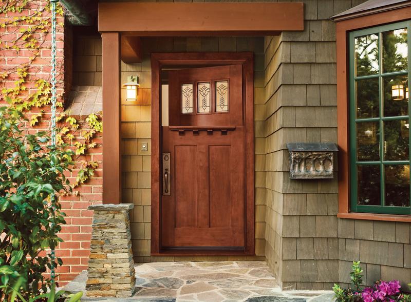 Jeld-Wen exterior door in Craftsman Bungalow style house