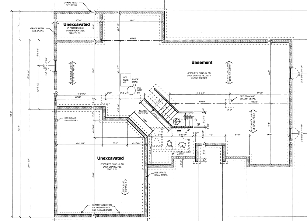 Sample of blueprints to build a house - foundation plans