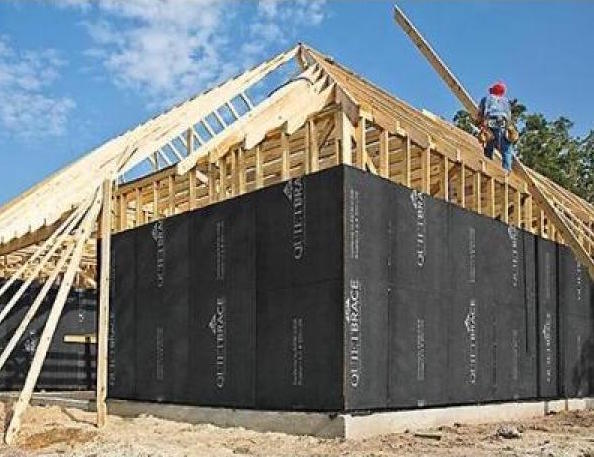 Structural fiberboard applied to building