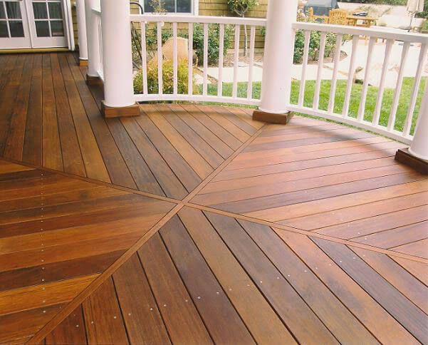 Tropical hardwood deck