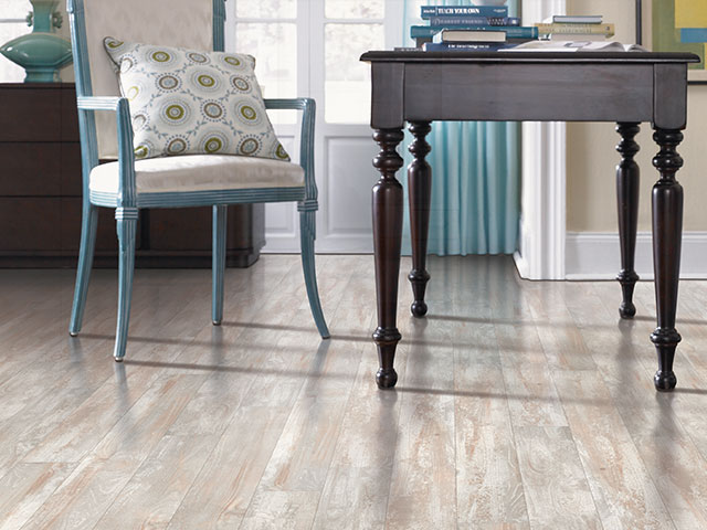 Neutral colored wood floor from Mohawk Flooring