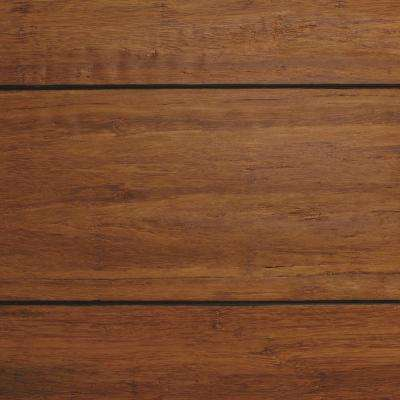 Sample of dark-colored bamboo flooring