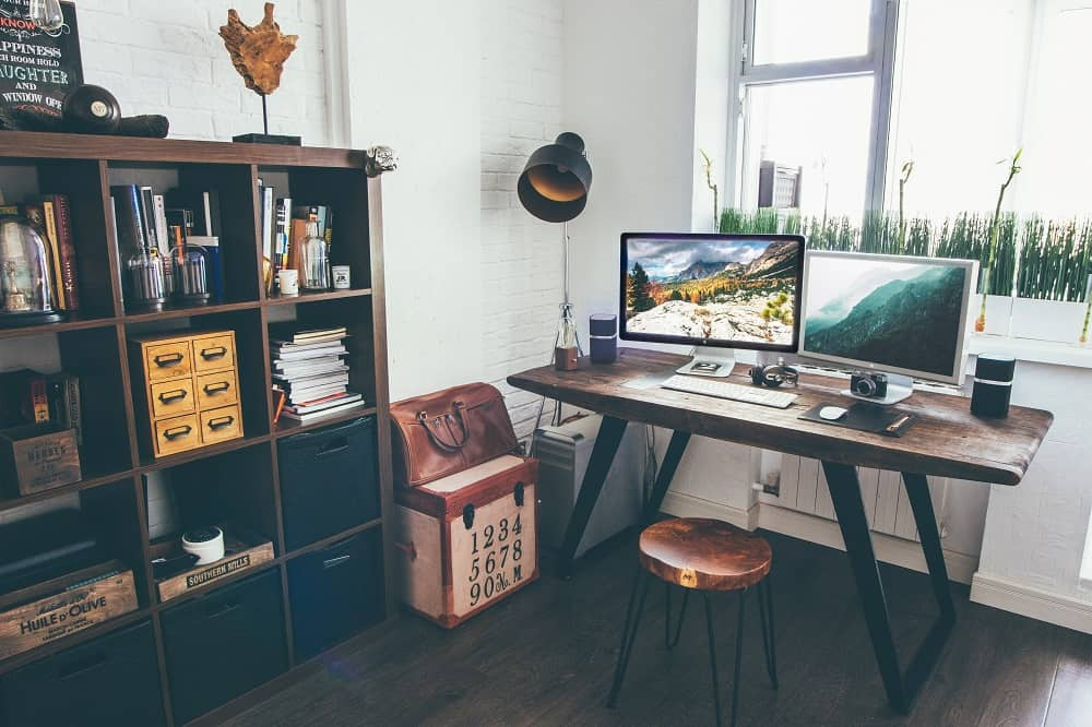 home office designed for multiple purposes
