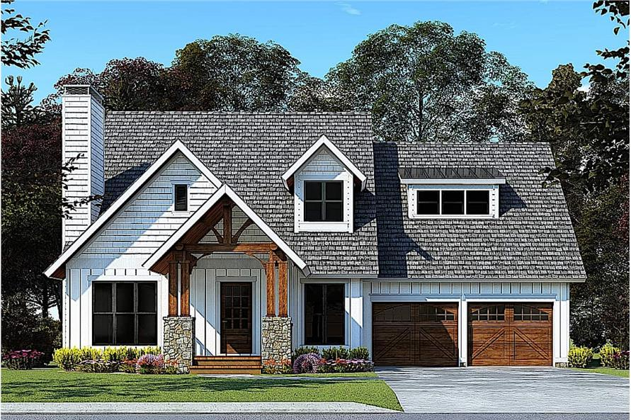 Contemporary take on a Cottage style home with pleasant covered entry portico