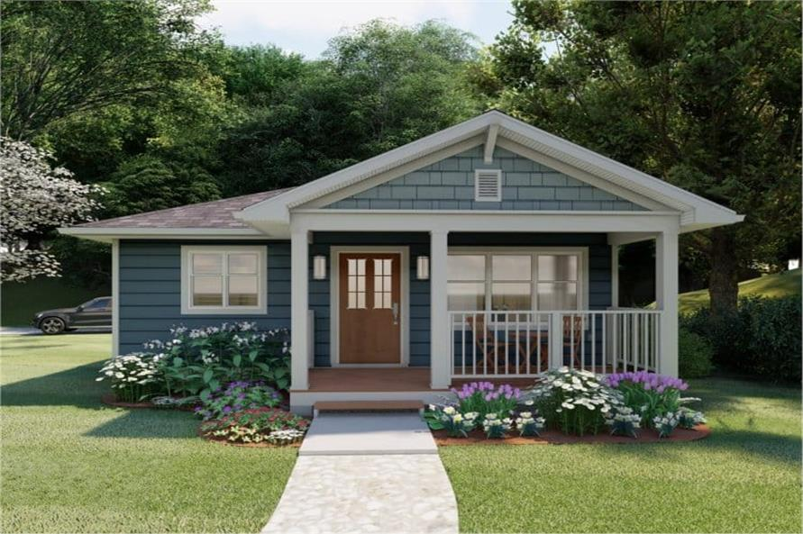 Beautiful Ranch home in the Cottage style with covered front porch