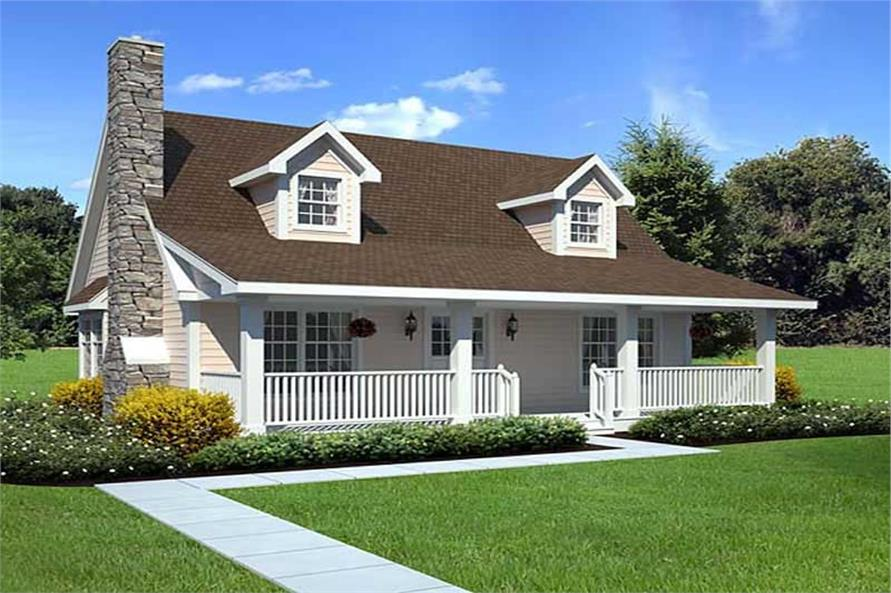 Cape Cod style home with 1,415 sq. ft. of living space, 3 bedrooms, and 2 baths