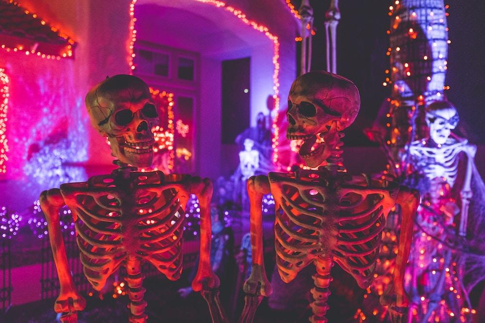 Skeleton decorations for Halloween
