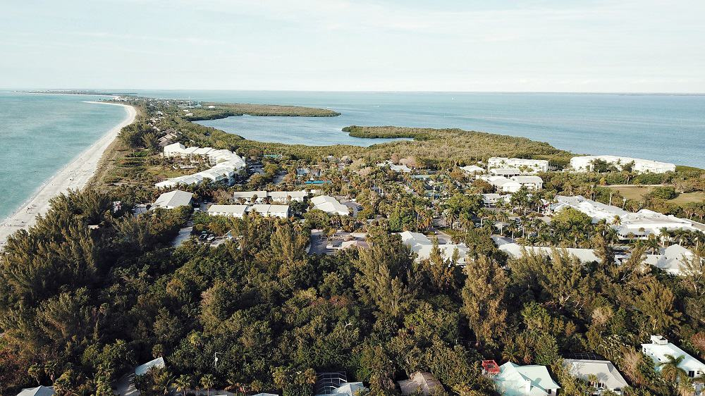 Aerial view of a wellness community in Florida