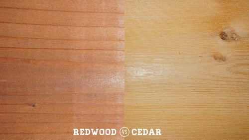 Comparison of redwood and cedar lumber
