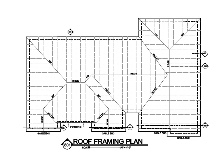 Sample house plan blueprints - framing plans