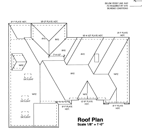 Sample framing plans for a house - blueprints for home building