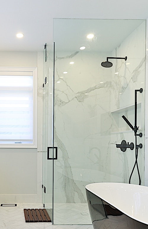 Accessible shower in a modern bathroom