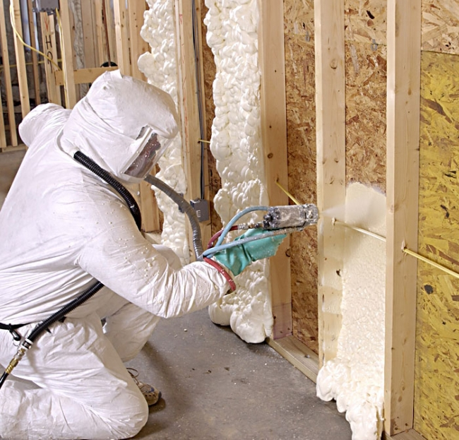 Soy-based spray-foam home insulation