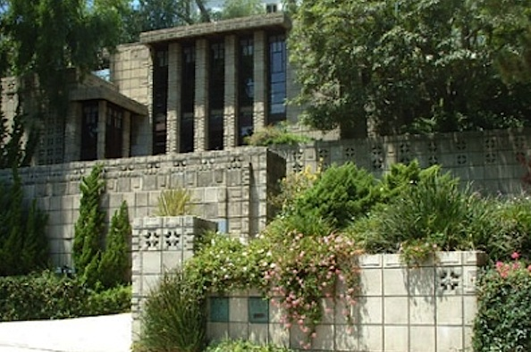 Frank Lloyd Wright's textile block home in Los Angeles