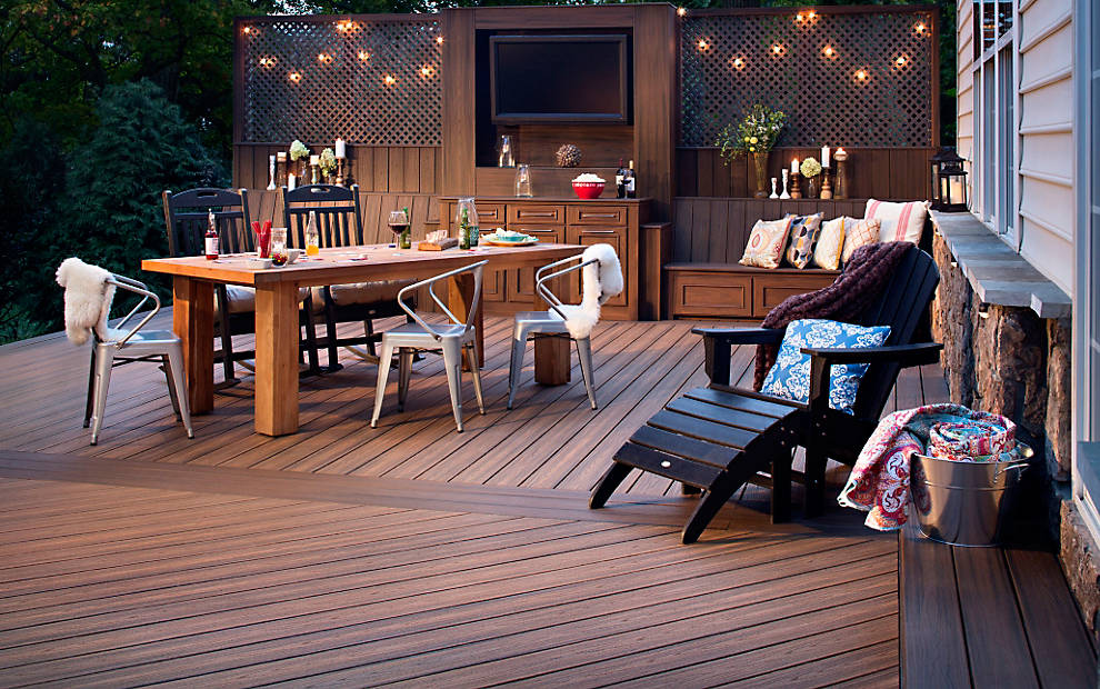 Composite decking material from Trex Company