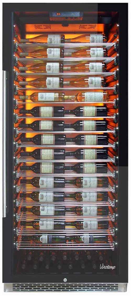 Vinotemp Backlit Private Reserve Series 188-Bottle Commercial 300 Wine Cooler
