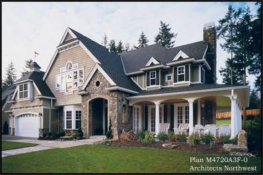 Exterior Photo of this 4-Bedroom,4720 Sq Ft Plan -4720